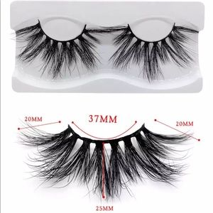 Mink fur lashes full volume long